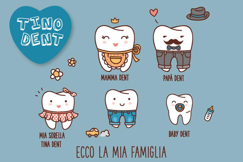 Tino dent e la sua famiglia